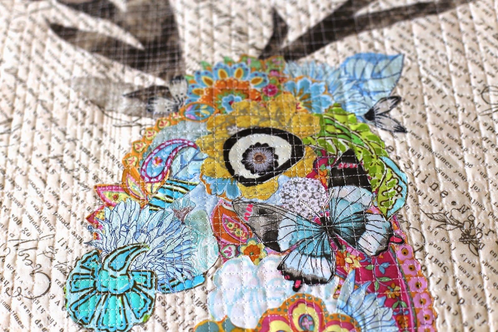 oh deer daisy ~ collage quilt - Marveles Art Studios : photo collage quilt - Adamdwight.com