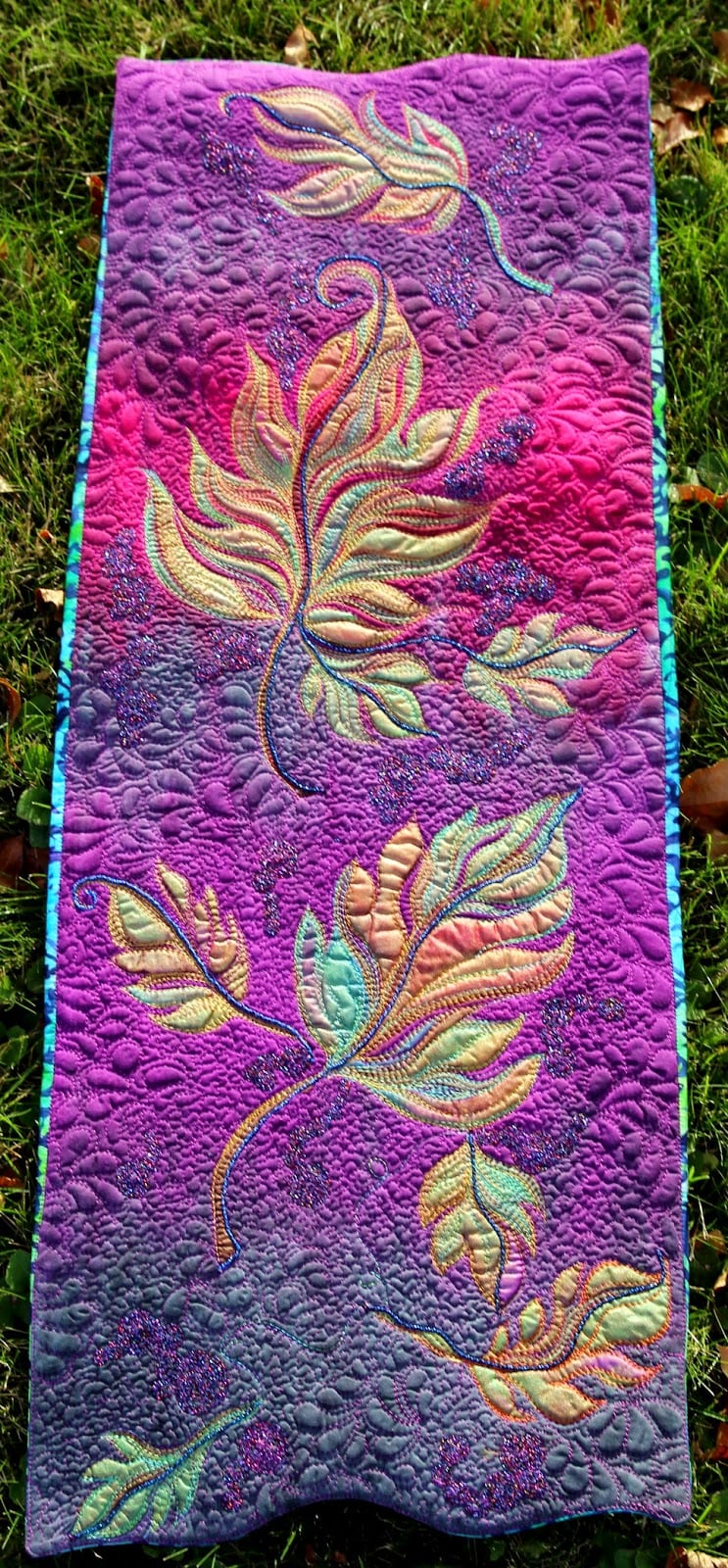 autumn splendor ~ a hand painted quilt - Marveles Art Studios : painted quilt - Adamdwight.com
